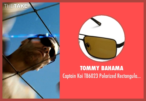 Tommy Bahama brown sunglasses from Savages seen with Taylor Kitsch (Chon)