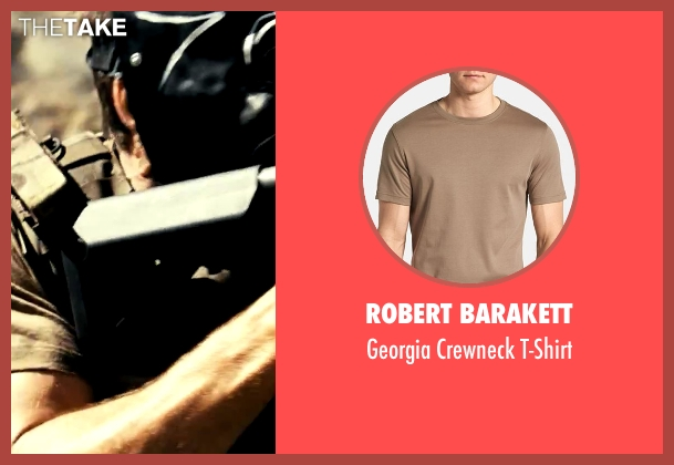 Robert Barakett brown t-shirt from Savages seen with Taylor Kitsch (Chon)