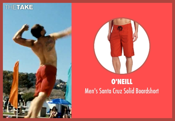 O'Neill red boardshort from Savages seen with Taylor Kitsch (Chon)