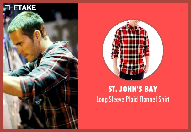 St. John's Bay red shirt from Savages seen with Taylor Kitsch (Chon)