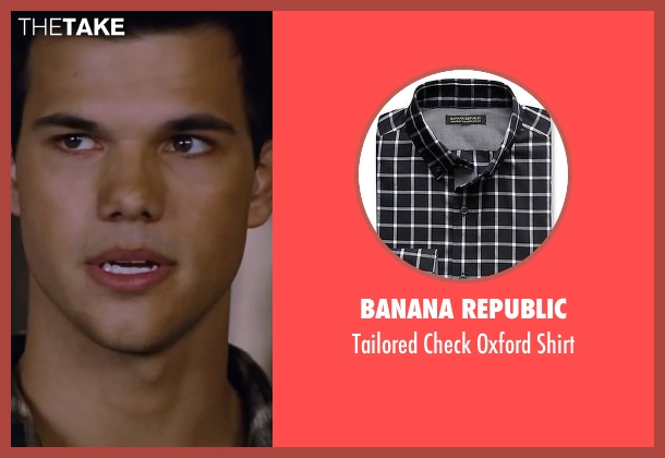 Banana Republic black shirt from The Twilight Saga: Breaking Dawn - Part 2 seen with Taylor Lautner (Jacob Black)