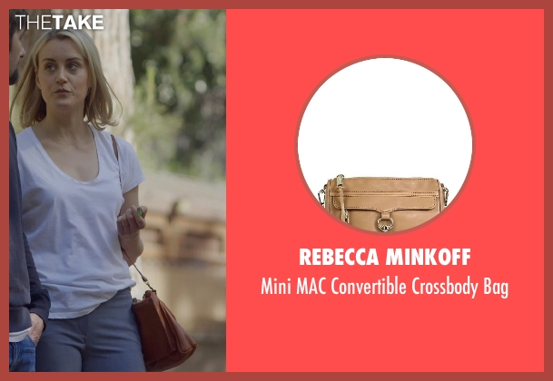 Rebecca Minkoff brown bag from The Overnight seen with Taylor Schilling (Emily Hobbs)