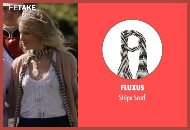Fluxus scarf from Valentine's Day seen with Taylor Swift (Felicia)