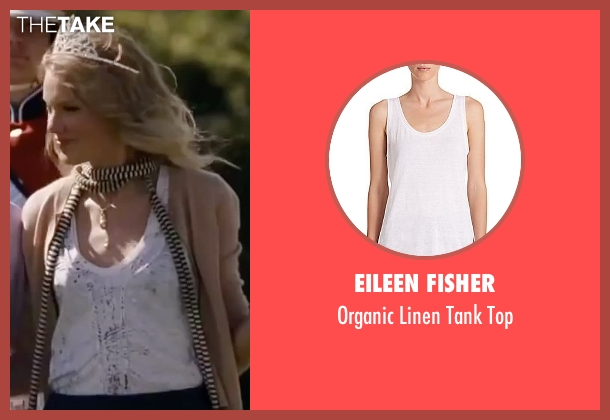 Eileen Fisher white top from Valentine's Day seen with Taylor Swift (Felicia)