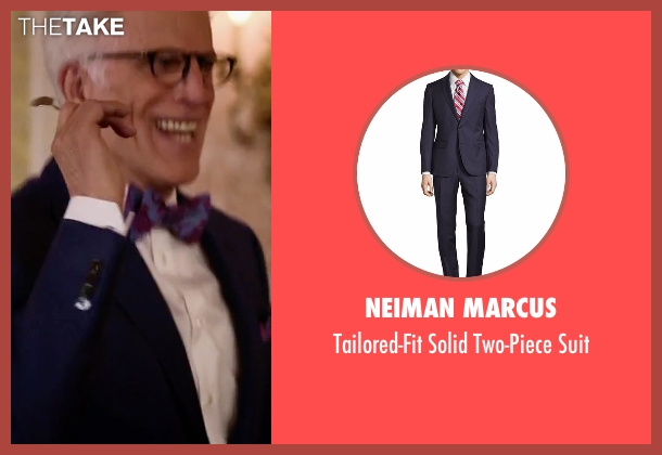 Neiman Marcus blue suit from The Good Place seen with Michael (Ted Danson)