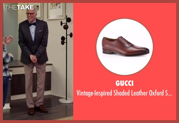 Gucci  brown shoes from The Good Place seen with Michael (Ted Danson)