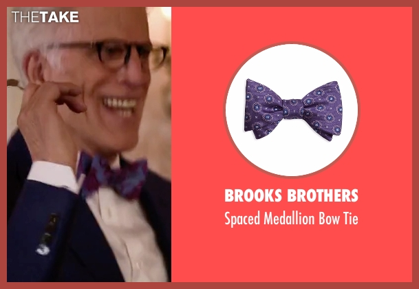Brooks Brothers purple tie from The Good Place seen with Michael (Ted Danson)