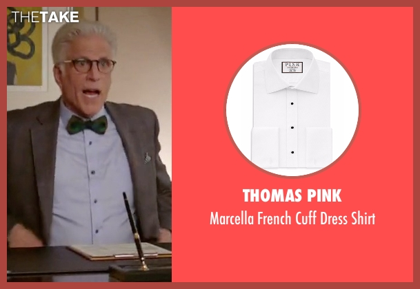 Thomas Pink white shirt from The Good Place seen with Michael (Ted Danson)