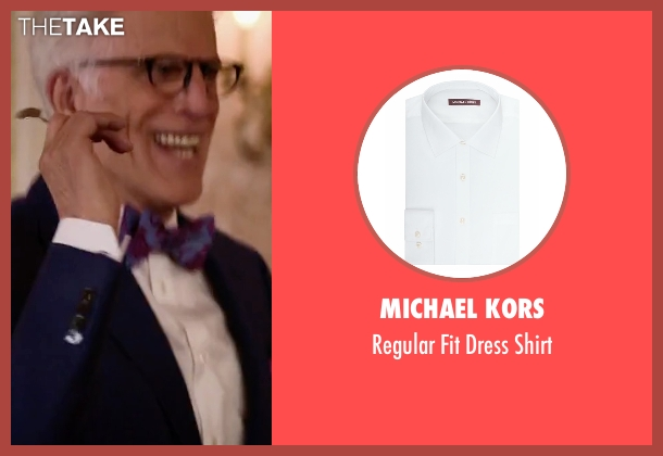 Michael Kors white shirt from The Good Place seen with Michael (Ted Danson)