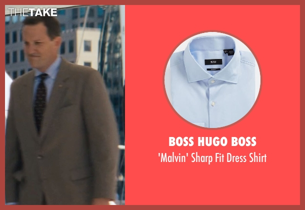 BOSS HUGO BOSS blue shirt from The Wolf of Wall Street seen with Ted Griffin (III) (Agent Hughes)