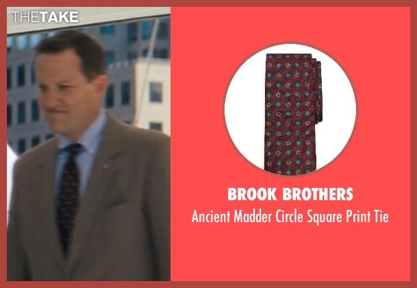 Brook Brothers red tie from The Wolf of Wall Street seen with Ted Griffin (III) (Agent Hughes)