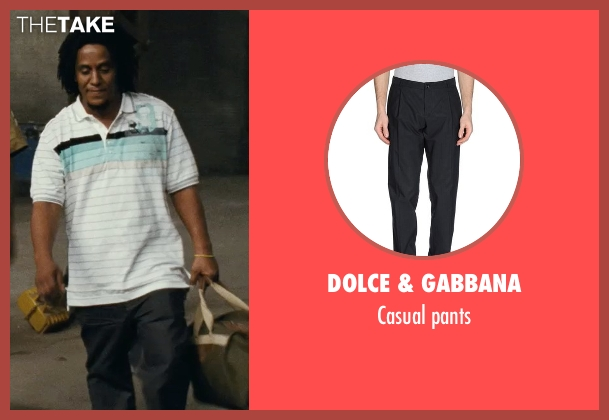 Dolce & Gabbana black pants from Fast Five seen with Tego Calderon (Leo)