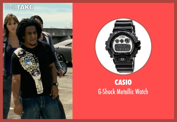 Casio black watch from Fast Five seen with Tego Calderon (Leo)