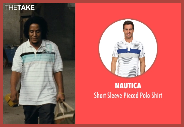 Nautica white shirt from Fast Five seen with Tego Calderon (Leo)