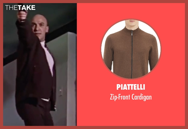 Piattelli brown cardigan from On Her Majesty's Secret Service seen with Telly Savalas (Blofeld)