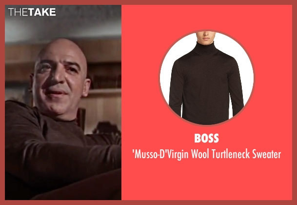 Boss brown sweater from On Her Majesty's Secret Service seen with Telly Savalas (Blofeld)