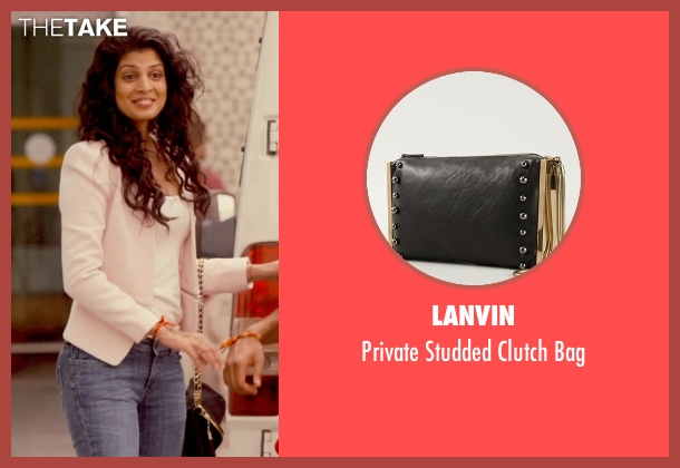 Lanvin black bag from The Second Best Exotic Marigold Hotel seen with Tena Desae (Sunaina)