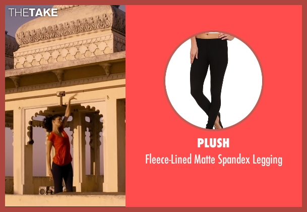 Plush black legging from The Second Best Exotic Marigold Hotel seen with Tena Desae (Sunaina)