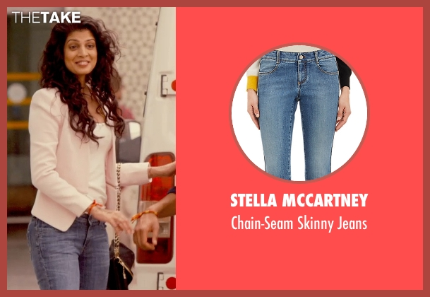 Stella Mccartney blue jeans from The Second Best Exotic Marigold Hotel seen with Tena Desae (Sunaina)