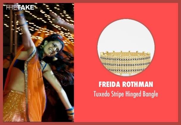 Freida Rothman gold bangle from The Second Best Exotic Marigold Hotel seen with Tena Desae (Sunaina)