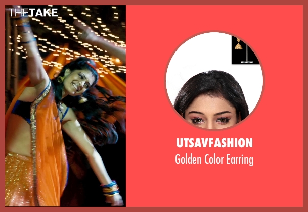 Utsavfashion gold earring from The Second Best Exotic Marigold Hotel seen with Tena Desae (Sunaina)