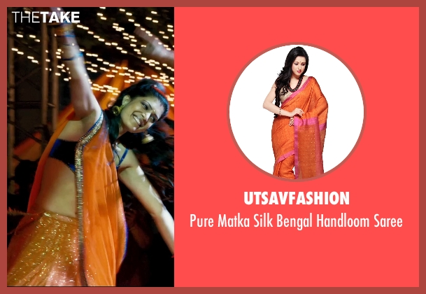 Utsavfashion saree from The Second Best Exotic Marigold Hotel seen with Tena Desae (Sunaina)