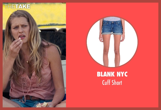 Blank NYC blue short from Cut Bank seen with Teresa Palmer (Cassandra)
