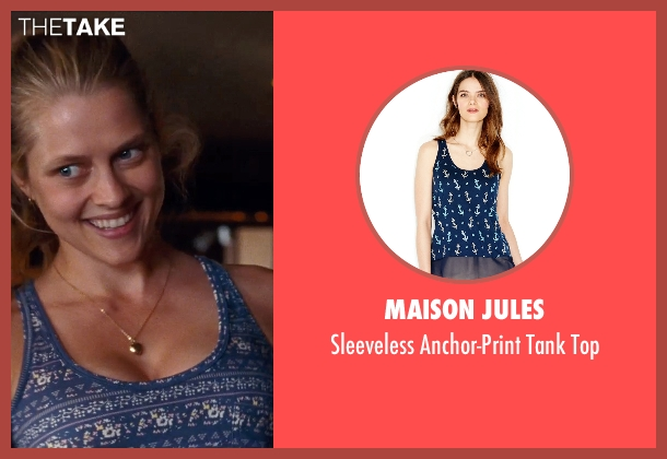 Maison Jules blue top from Cut Bank seen with Teresa Palmer (Cassandra)