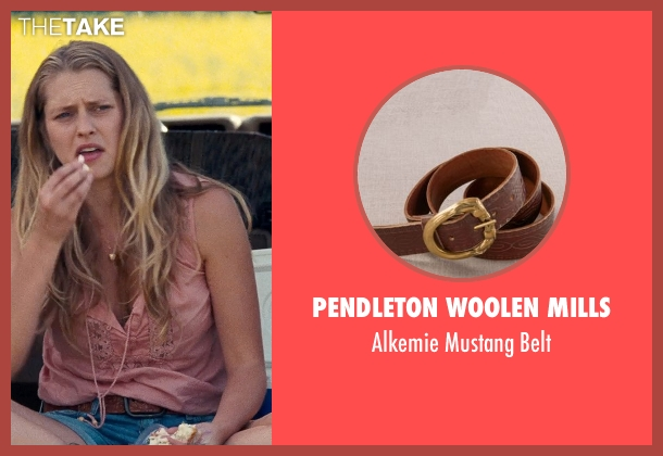 Pendleton Woolen Mills brown belt from Cut Bank seen with Teresa Palmer (Cassandra)