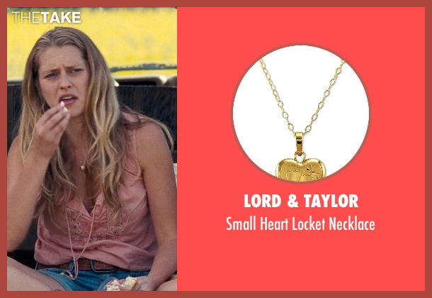 Lord & Taylor gold necklace from Cut Bank seen with Teresa Palmer (Cassandra)