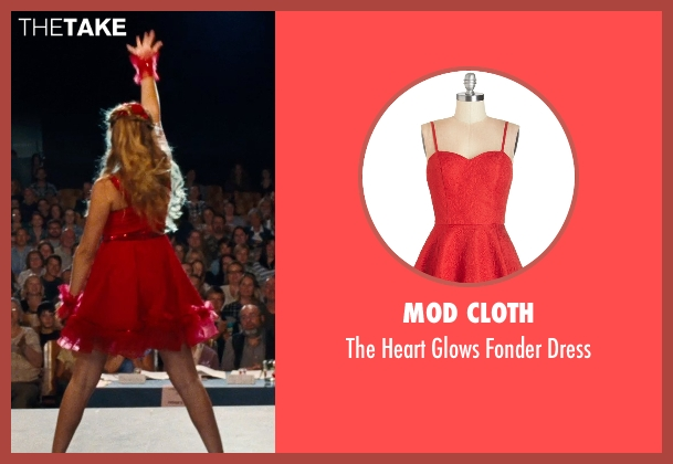 Mod Cloth red dress from Cut Bank seen with Teresa Palmer (Cassandra)