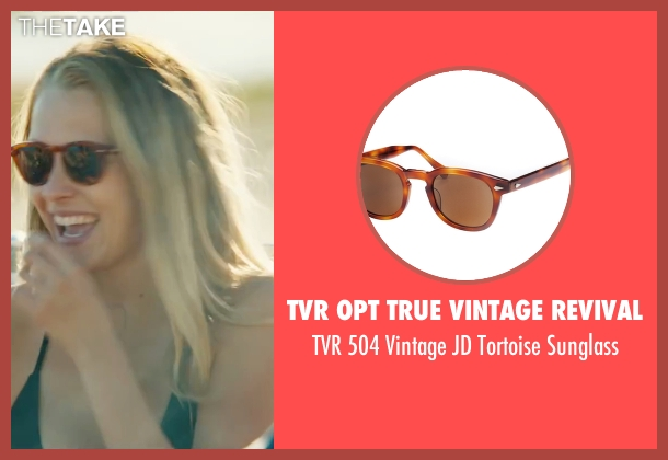 TVR OPT True Vintage Revival brown sunglass from The Choice seen with Teresa Palmer (Gabby Holland)