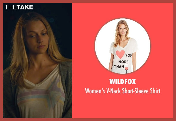 Wildfox white shirt from The Choice seen with Teresa Palmer (Gabby Holland)