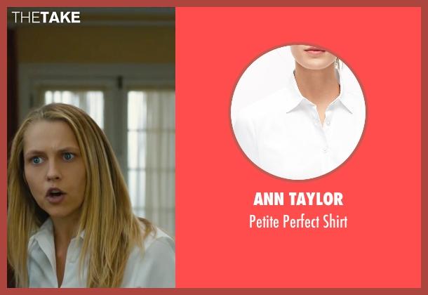 Ann Taylor white shirt from The Choice seen with Teresa Palmer (Gabby Holland)
