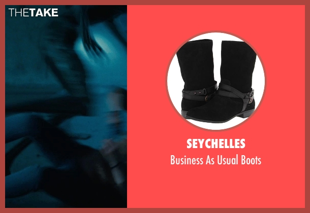 Seychelles black boots from Warm Bodies seen with Teresa Palmer (Julie)