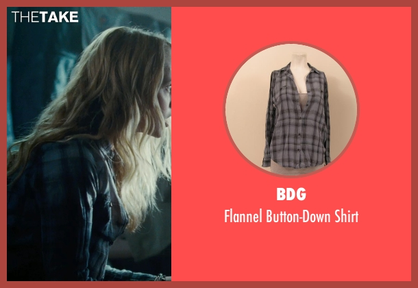 BDG blue shirt from Warm Bodies seen with Teresa Palmer (Julie)