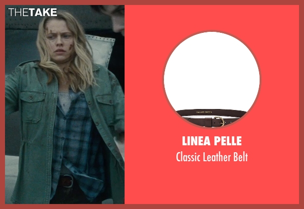 Linea Pelle brown belt from Warm Bodies seen with Teresa Palmer (Julie)