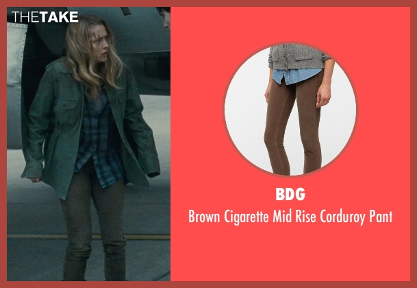 BDG brown pant from Warm Bodies seen with Teresa Palmer (Julie)