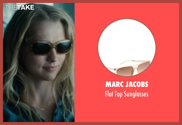 Marc Jacobs brown sunglasses from Warm Bodies seen with Teresa Palmer (Julie)