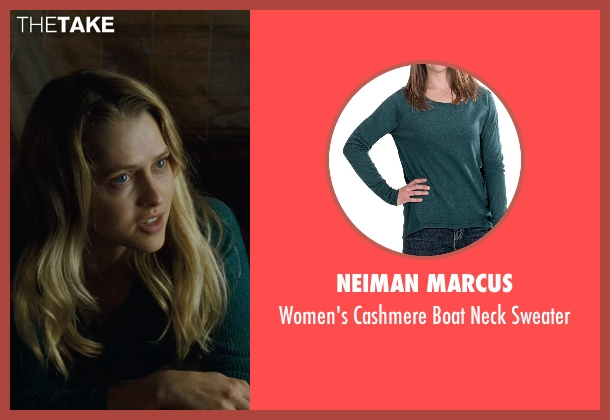 Neiman Marcus green sweater from Warm Bodies seen with Teresa Palmer (Julie)