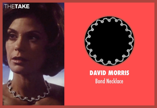 David Morris white necklace from Tomorrow Never Dies seen with Teri Hatcher (Paris Carver)