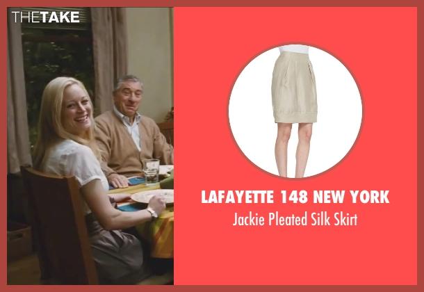 Lafayette 148 New York beige skirt from Little Fockers seen with Teri Polo (Pam Focker)