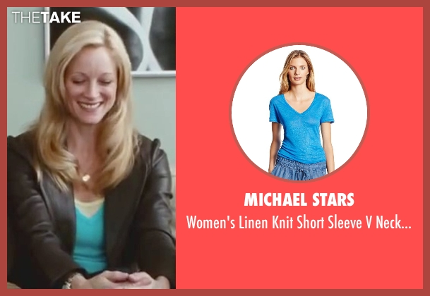 Michael Stars blue t-shirt from Little Fockers seen with Teri Polo (Pam Focker)