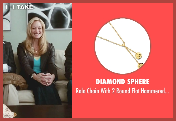 Diamond Sphere gold necklace from Little Fockers seen with Teri Polo (Pam Focker)