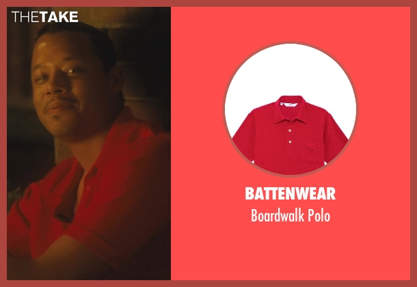 Battenwear red polo from Lee Daniels' The Butler seen with Terrence Howard  (Howard)