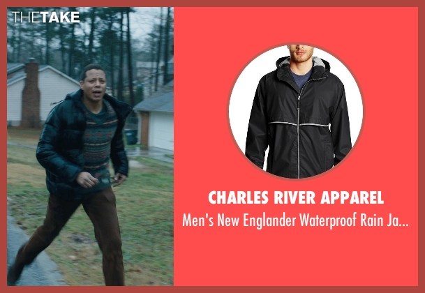 Charles River Apparel black jacket from Prisoners seen with Terrence Howard  (Franklin Birch)