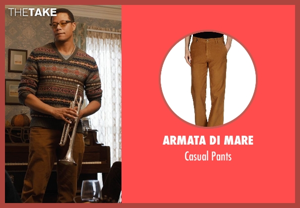Armata Di Mare brown pants from Prisoners seen with Terrence Howard  (Franklin Birch)