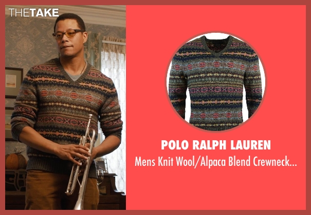Polo Ralph Lauren brown sweater from Prisoners seen with Terrence Howard  (Franklin Birch)