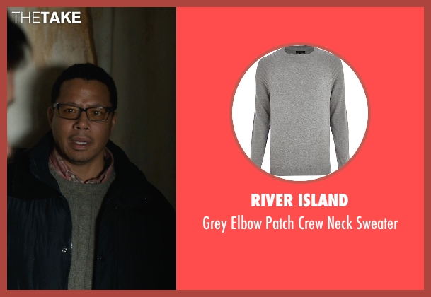 River Island gray sweater from Prisoners seen with Terrence Howard  (Franklin Birch)