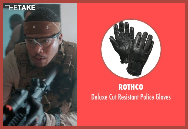 Rothco black gloves from Sabotage seen with Terrence Howard  (Julius 'Sugar' Edmonds)